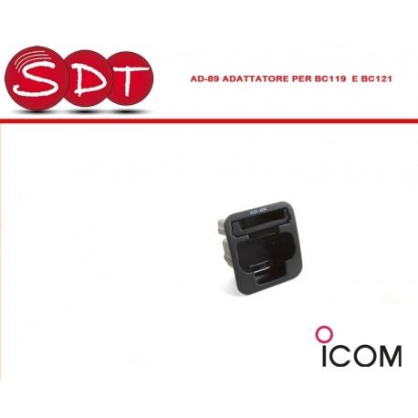 AD-89 ADATTATORE PER BC119 E BC121 PER LA CARICA DELLA BATTERIA COMPATIBILE ICOM IC-4008