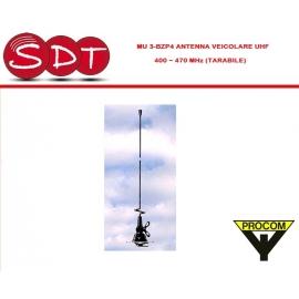 MU3-BZP4 ANTENNA VEICOLARE UHF 400 ~ 470 MHz (TARABILE)