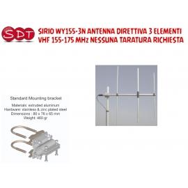SIRIO WY155-2N ANTENNA DIRETTIVA 2 ELEMENTI VHF 155-175 MHz NESSUNA TARATURA RICHIESTA