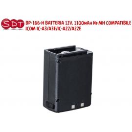 BP-166H BATTERIA RICARICABILE Ni-Mh 12 V - 1100 mAh COMPATIBILE ICOM IC-A3, A3E, IC-A22, A22E