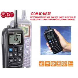 ICOM IC-M37 RICETRASMETTITORE VHF NAUTICO 6 WATT DI POTENZA RF, GALLEGGIANTE CON SISTEMA DI INDIVIDUAZIONE LUMINOSO