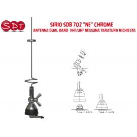 """SIRIO SDB 702 """"NE"""" CHROME ANTENNA DUAL BAND VHF/UHF NESSUNA TARATURA RICHIESTA"""