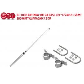 BC-103H ANTENNA VHF DA BASE 134~175 MHZ 1,58 MT - 200 WATT GUADAGNO 3,2 DB