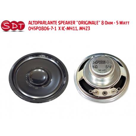 ALTOPARLANTE SPEAKER 8 Ohm - 5 Watt 045P0806-7-1 X IC-M411, M423