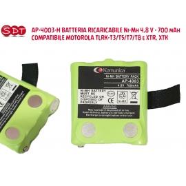 AP-4003-H BATTERIA RICARICABILE Ni-Mh 4,8 V - 700 mAh COMPATIBILE MOTOROLA TLRK-T5/T7/T8