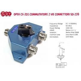 DIAMOND CX-210A COMMUTATORE 2 VIE CONNETTORI SO-239
