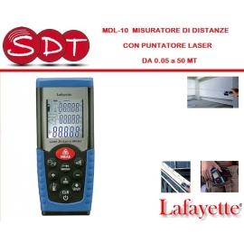 MDL-10 MISURATORE DI DISTANZE CON PUNTATORE LASER DA 0,05 a 50 MT