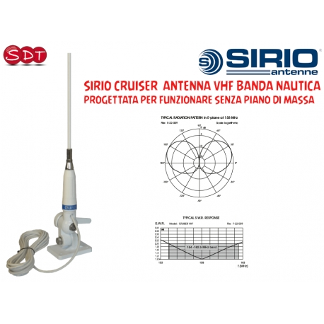 Sirio Antenne GAIN-MASTER, Antenna CB Fissa 5/8 λ Center Feed Vertical Dipole, Frequenza 25.5-30MHz,