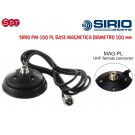 "SIRIO BASE MAGNETICA ""POWER MAG"" 100 PL Diam. 100 mm conn. SO-239/PL-259"