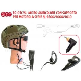 EG-03C/SL MICRO-AURICOLARE CON SUPPORTO PER MOTOROLA SERIE SL-1600/4000/4010