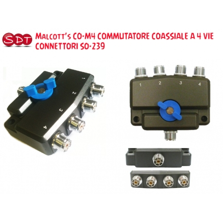 OPEK CX-5 COMMUTATORE COASSIALE A 3 VIE DA 0~500 MHz CONNETTORI SO-239