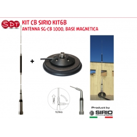 KIT CB SIRIO KIT6B ANTENNA SG-CB 1000, BASE MAGNETICA