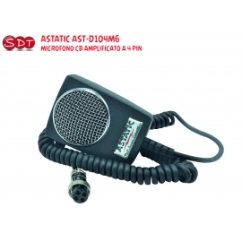 ASTATIC AST-RD104E-4B MICROFONO CB AMPLIFICATO A 4 PIN Road Devil