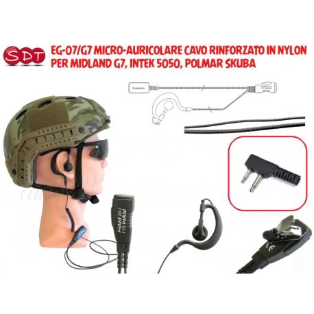 PJD-3607-G7 MICRO/ALTOPARLANTE CON PTT PER MIDLAND G7, INTEK 5050, POLMAR SKUBA