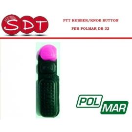 PTT RUBBER/KNOB BUTTON PER POLMAR DB-32