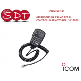"""ICOM HM-151 """"ORIGINALE"""" MICROFONO DA PALMO PER IL CONTROLLO REMOTO DEL IC-7000"""