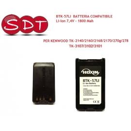 BTK-57LI BATTERIA COMPATIBILE Li-Ion 7,4V - 1800 Mah PER KENWOOD TK-2140/2160/2168/2170/270g/278/TK-3107/3102/3101