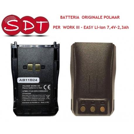 BATTERIA ORIGINALE POLMAR EASY, WORK III - Li-Ion 7,4V - 2,3Ah