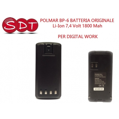 POLMAR BP-6 BATTERIA ORIGINALE Li-Ion 7,4 Volt 1800 Mah PER DIGITAL WORK
