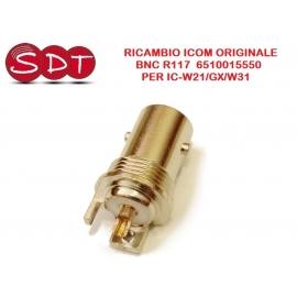 BNC R117 6510015550 RICAMBIO ORIGINALE ICOM PER IC-W21/GX/W31
