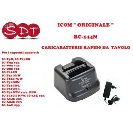 "BC-144N CARICABATTERIE RAPIDO DA TAVOLO ICOM ""ORIGINALE"" PER IC-T3H, IC-F22SR, IC-A24E, IC-A24E, IC-A6E ecc....."