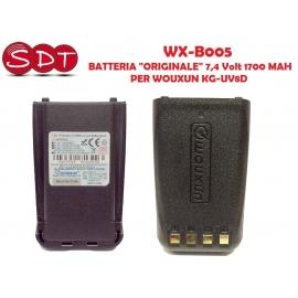 """WX-B005 BATTERIA """"ORIGINALE"""" 7,4 Volt 1700 MAH PER WOUXUN KG-UV8D"""
