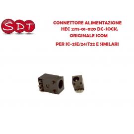 CONNETTORE ALIMENTAZIONE HEC 2711-01-020 DC-SOCK. ORIGINALE ICOM PER IC-2SE/24/T22 E SIMILARI