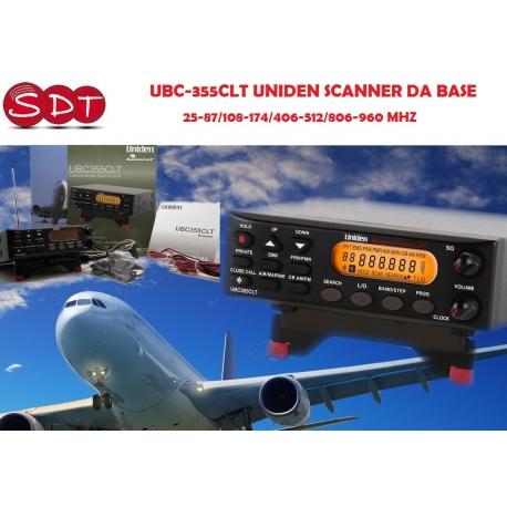 UBC-355CLT UNIDEN SCANNER DA BASE 25-87/108-174/406-512/806-960 MHZ