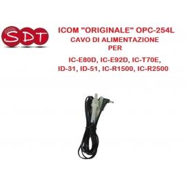 """ICOM """"ORIGINALE"""" OPC-254L CAVO DI ALIMENTAZIONE PER IC-E80D, IC-E92D, IC-T70E, ID-31, ID-51, IC-R1500, IC-R2500"""