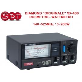 """DIAMOND """"ORIGINALE"""" SX-400 ROSMETRO - WATTMETRO 140~525MHz / 5~200W"""