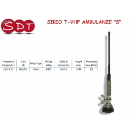 SIRIO T-VHF AMBULANZE ANTENNA VEICOLARE VHF 163-173 MHz