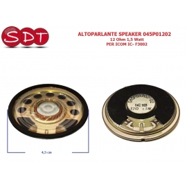 ALTOPARLANTE SPEAKER 045P01202 12 Ohm 1,5 Watt PER ICOM IC- F3002