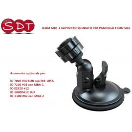MBF-1 SUPPORTO SNODATO PER PANNELLO FRONTALE PER IC-7000, IC-7100, IC-E2820, ID-E880D, ID-5100