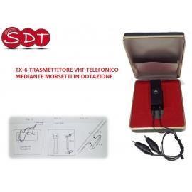 TX-6 TRASMETTITORE VHF TELEFONICO MEDIANTE MORSETTI IN DOTAZIONE