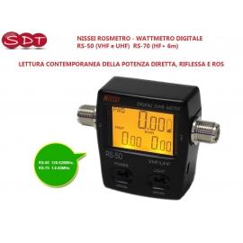 NISSEI ROSMETRO - WATTMETRO DIGITALE RS-50 (VHF e UHF) RS-70 (HF+ 6m) - LETTURA POTENZA DIRETTA, RIFLESSA E ROS