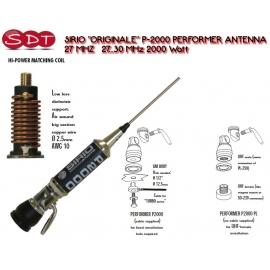 """SIRIO """"ORIGINALE"""" P-2000 PERFORMER ANTENNA 27 MHZ 27 ... 30 MHz 2000 Watt"""