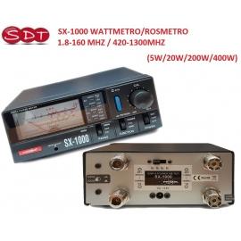 SX-1000 WATTMETRO/ROSMETRO 1.8-160 MHZ / 420-1300MHZ (5W/20W/200W/400W)