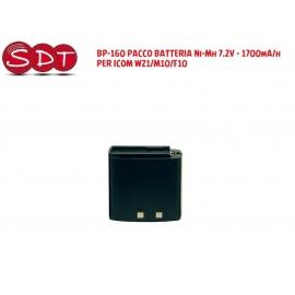BP-160 PACCO BATTERIA Ni-Mh 7.2V - 1700mA/h PER ICOM W21/M10/F10