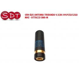 SRH-805 ANTENNA TRIBANDA 4,5CM 144/430/1200 MHZ - ATTACCO SMA-M
