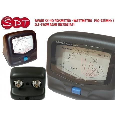 AVAIR SX-40 ROSMETRO - WATTMETRO 140-525MHz / 0.5-150W AGHI INCROCIATI