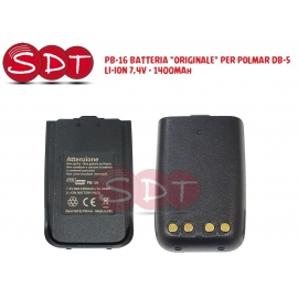 "PB-16 BATTERIA ""ORIGINALE"" PER POLMAR DB-5 LI-ION 7,4V - 1400MAh"
