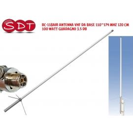 BC-100H ANTENNA VHF DA BASE 136~174 MHZ 170 CM 200 WATT GUADAGNO 4,7 DB