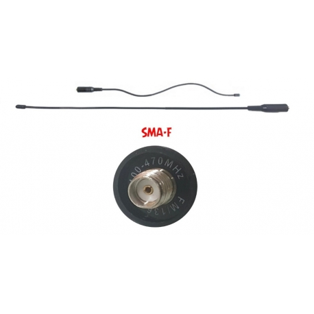 ANTENNE SUPER FLEXIBLE PER PORTATILI VHF/UHF RX 125/150/320/450/900MHz IN VERSIONE SMA-M E SMA-F