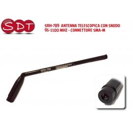 SRH-789 ANTENNA TELESCOPICA CON SNODO 70-1000 MHZ - CONNETTORE SMA-M