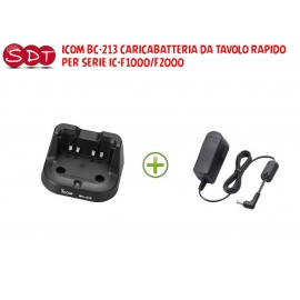 ICOM BC-213 CARICABATTERIA DA TAVOLO RAPIDO PER SERIE IC-F1000/F2000