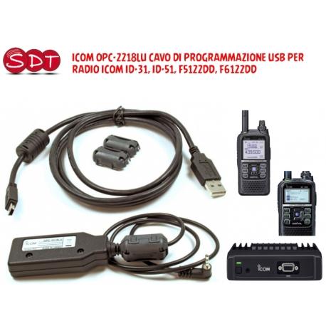 ICOM OPC-2218LU CAVO DI PROGRAMMAZIONE USB PER RADIO ICOM ID-31, ID-51, F5122DD, F6122DD