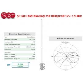 BANTEN T-VHF14185D ANTENNA BASE VHF VERTICALE 155 ~ 175 MHz