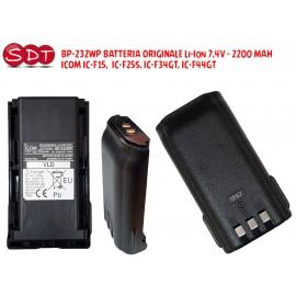 BP-232WP BATTERIA ORIGINALE Li-Ion 7,4V - 2200 MAH ICOM IC-F15, IC-F25S, IC-F34GT, IC-F44GT