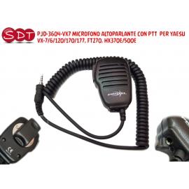 EM-3600Y-VX7 MICROFONO ALTOPARLANTE CON PTT PER YAESU VX-7/6/120/170/177, FT270, HX370E/500E
