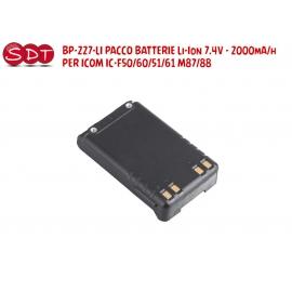 BP-227-LI PACCO BATTERIE Li-Ion 7.4V - 2000mA/h PER ICOM IC-F50/60/51/61 M87/88